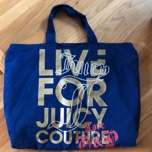 "Royal blue juicy couture tote bag ""live for juicy"""